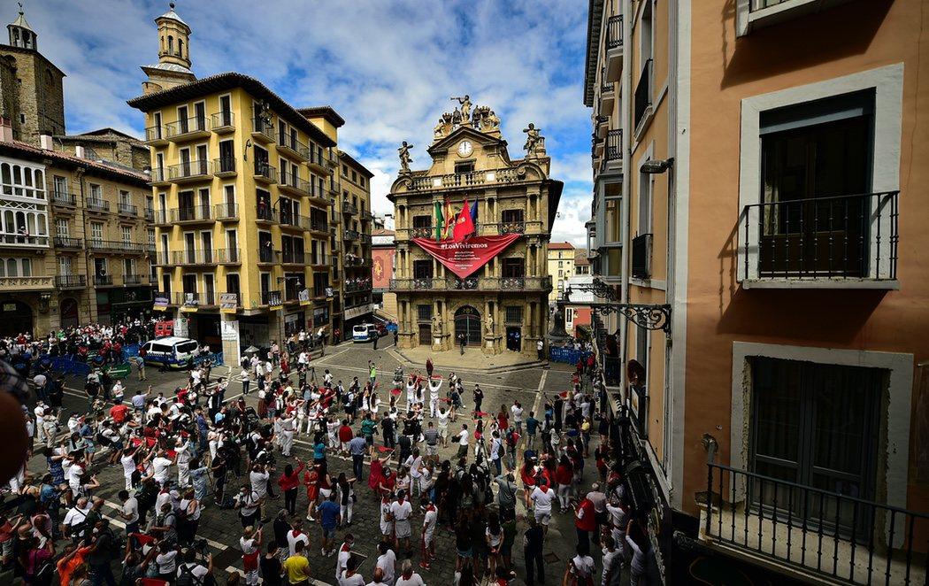 Pamplona vive su particular 6 de julio más extraño: sin chupinazo por el coronavirus