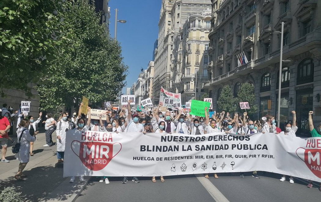 Huelga MIR en Madrid por unas condiciones laborales dignas