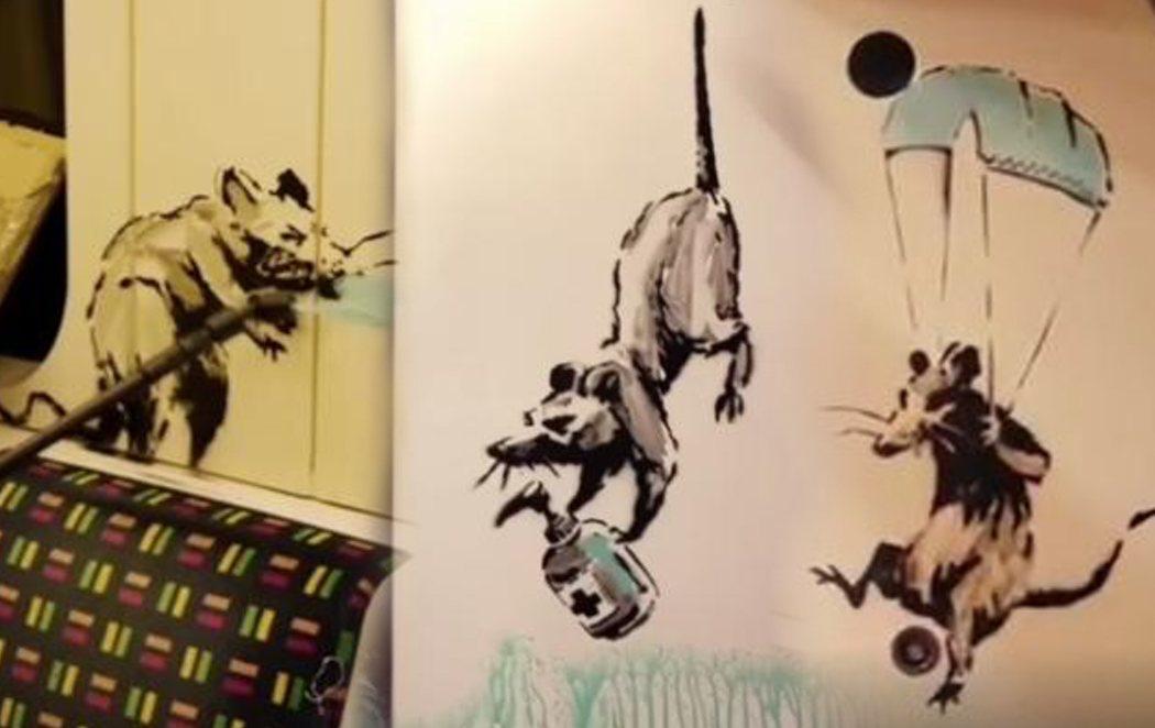 Banksy realiza varias pintadas en el metro de Londres para concienciar sobre el uso de la mascarilla