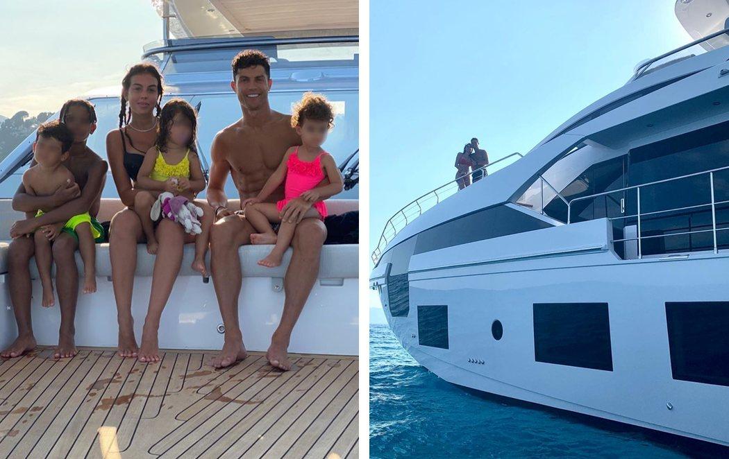 El lujoso yate para las vacaciones de Cristiano Ronaldo está valorado en 5,5 millones pero a él le sale gratis