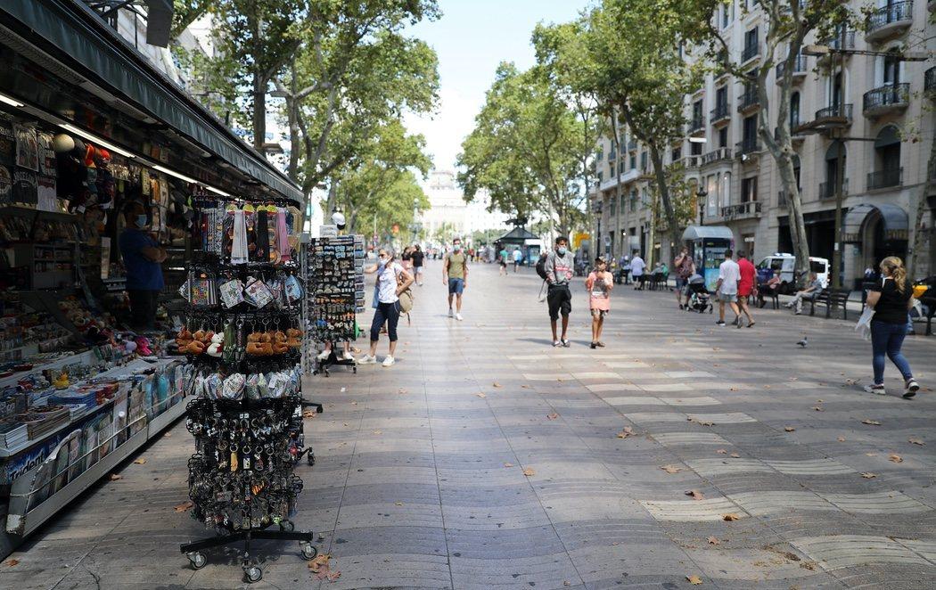 Las consecuencias de la pandemia: Barcelona, completamente vacía en pleno mes de agosto