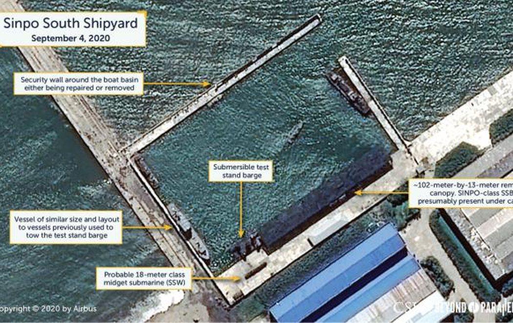 Imágenes en satélite revelan que Corea del Norte podría lanzar misiles desde submarinos