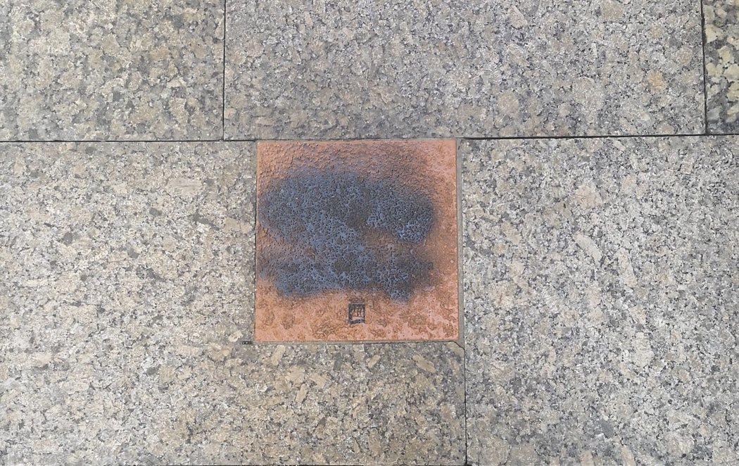 Los radicales vuelven a atacar la placa de Gregorio Ordóñez, asesinado por ETA, en San Sebastián