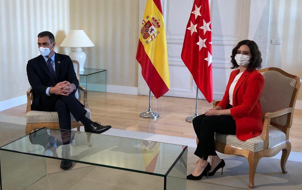 La reunión entre Sánchez y Ayuso se salda con la creación de un 'Espacio de Cooperación'