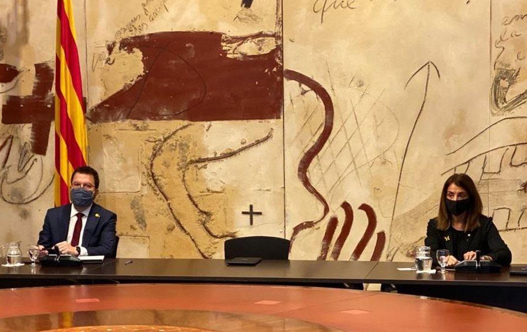 Silla vacía de Torra en la primera reunión del Govern en funciones tras su inhabilitación