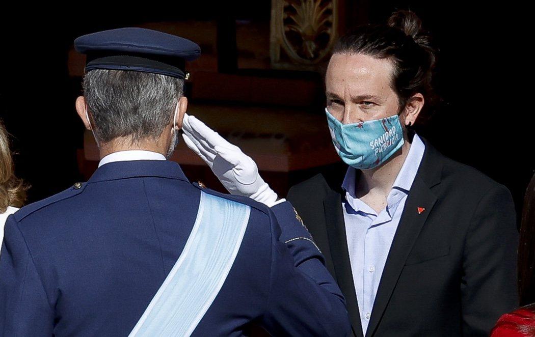 12 de octubre atípico por la pandemia en una sobria ceremonia a la que ha asistido todo el Gobierno