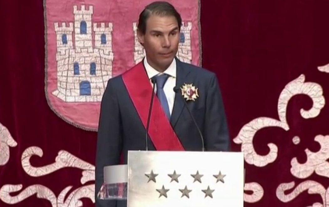 Rafa Nadal dedica la Gran Cruz de la Orden del Dos de Mayo a las víctimas del coronavirus