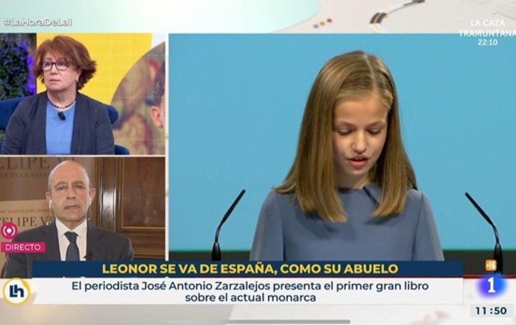 TVE ordena el relevo de los responsables del rótulo que comparaba la salida de la princesa Leonor con el rey emérito