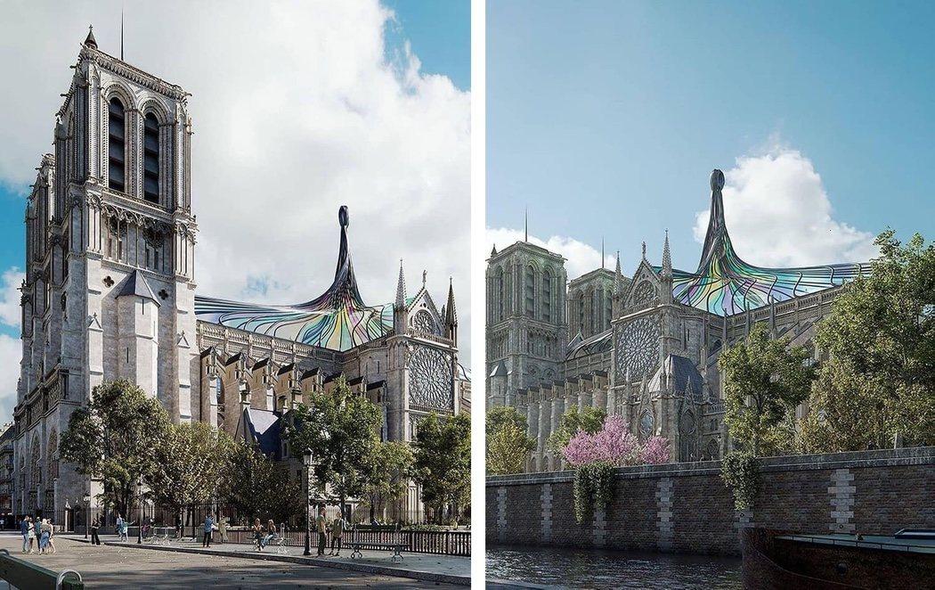 """Críticas por la propuesta en 3D de la reconstrucción de Notre Dame: """"Vaya aberración"""""""
