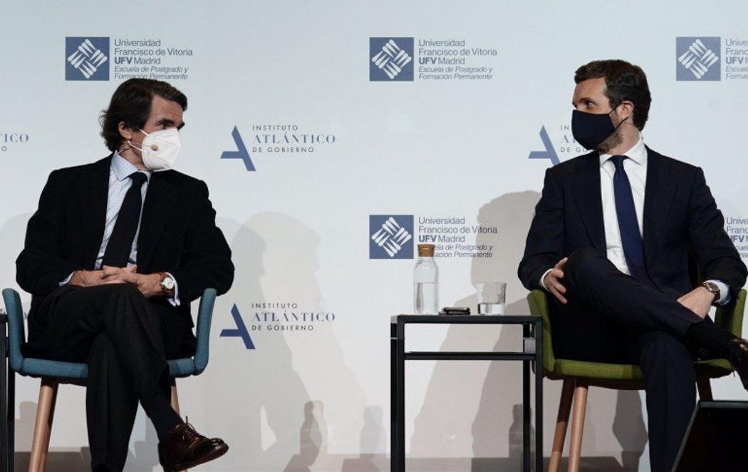 Aznar y Pablo Casado se encuentran y reivindican el legado del PP en su momento más difícil