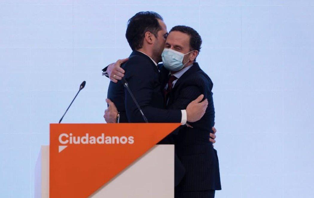 Ignacio Aguado cede el testigo a Edmundo Bal, candidato de Ciudadanos a la Comunidad de Madrid