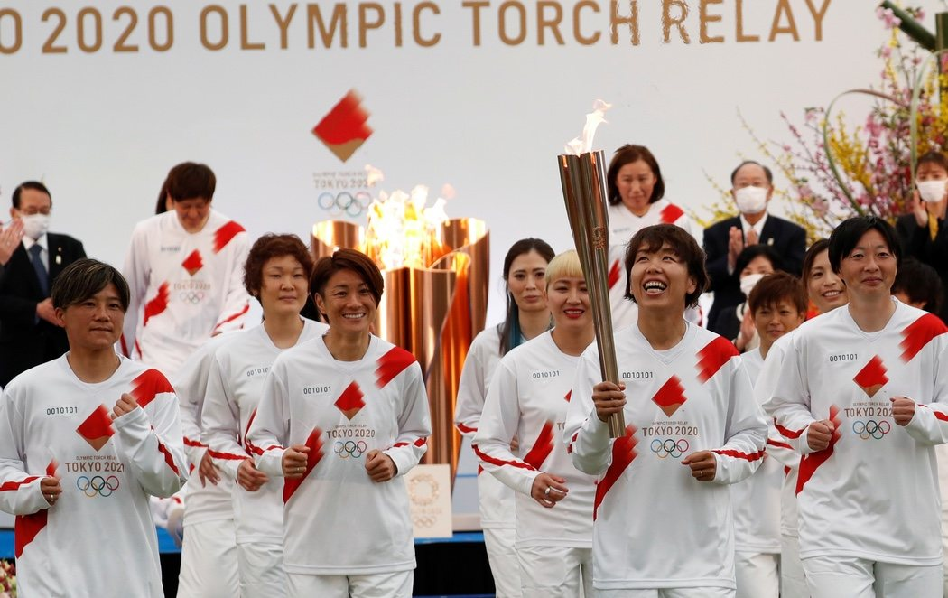 Arranca el relevo de la antorcha olímpica de los Juegos Olímpicos de Tokio 2020