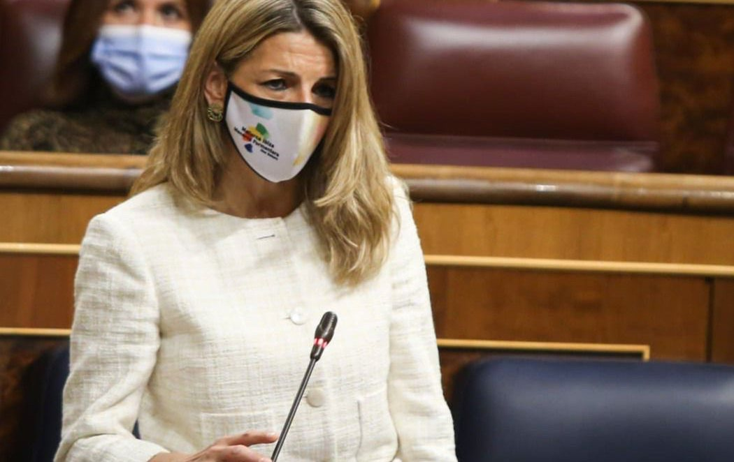 El repaso de Yolanda Díaz a Egea (PP) por aportar datos falseados de Bruselas