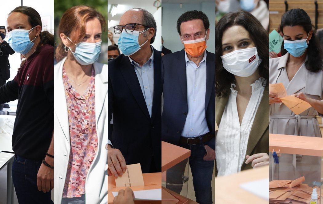 Los candidatos ya han votado en las elecciones de la Comunidad de Madrid y llaman a participar en una jornada en clave nacional