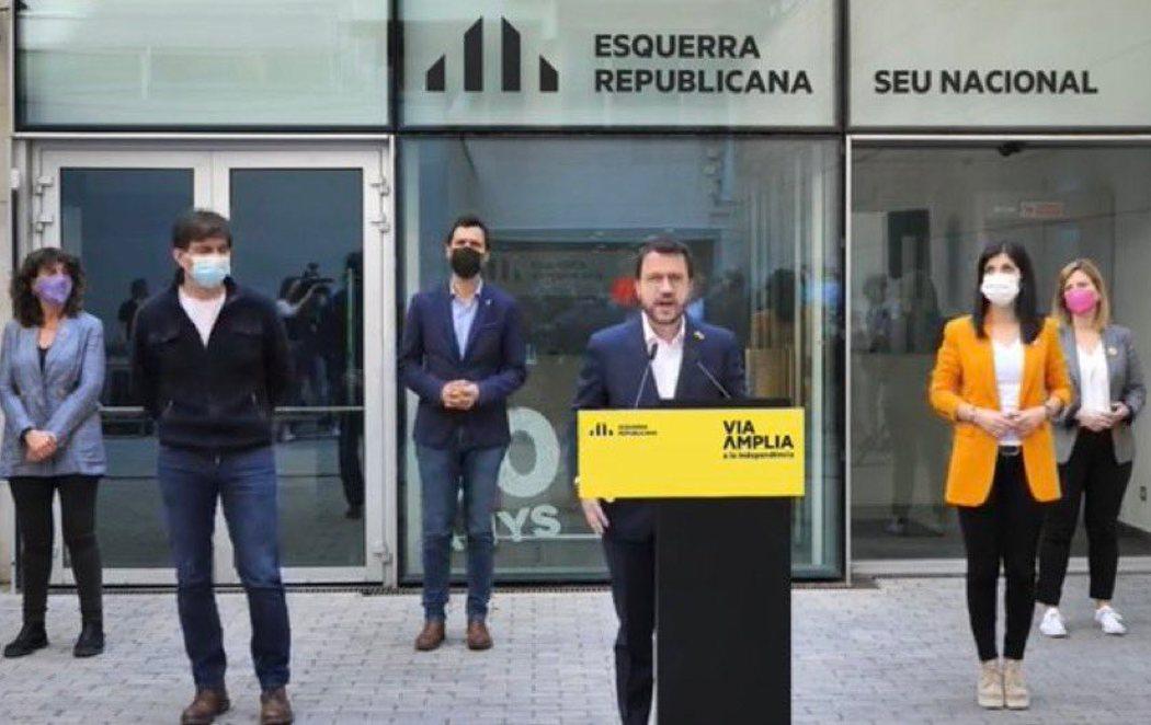 ERC anuncia que iniciará un gobierno en solitario en Cataluña ante el bloqueo de las negociaciones con JxCat