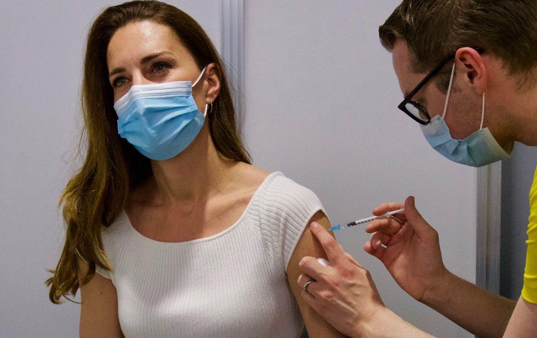 La duquesa de Cambridge, Kate Middleton, se vacuna contra el coronavirus