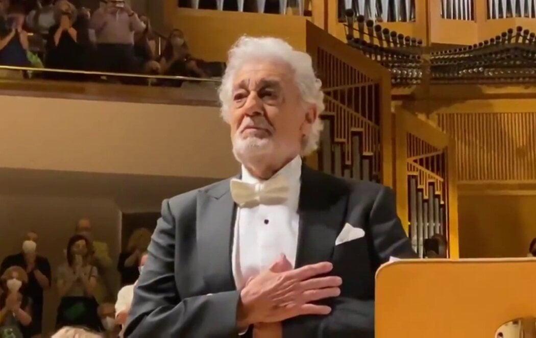Tras el escándalo de acoso sexual, Plácido Domingo es ovacionado en su vuelta a los escenarios