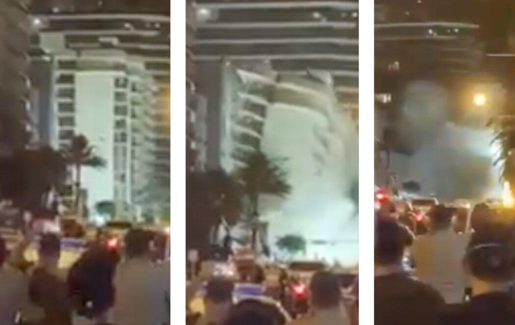Demolido con una explosión controlada el edificio de Miami que colapsó hace 11 días ante el huracán Elsa