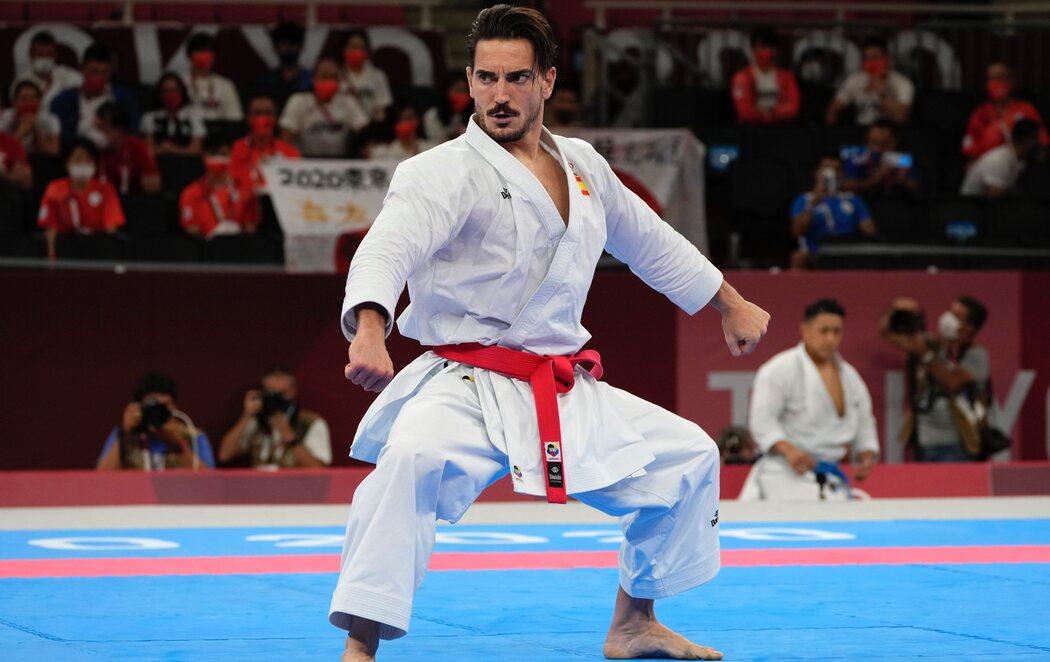 Damián Quintero, medalla de plata en karate kata en Tokio 2020