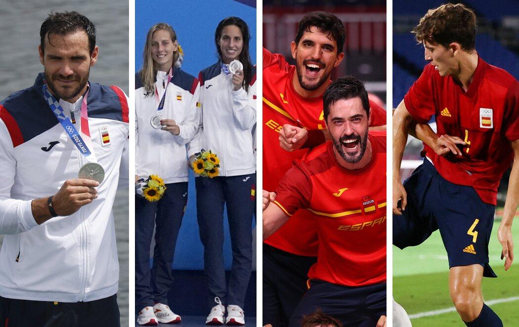 Cuatro medallas más para España en los JJOO de Tokio 2020: Tres platas y un bronce