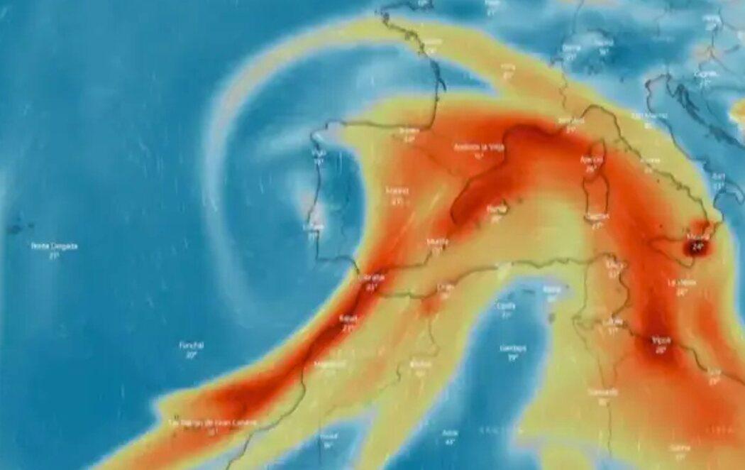 La nube de dióxido de azufre del volcán de La Palma llegará a la Península