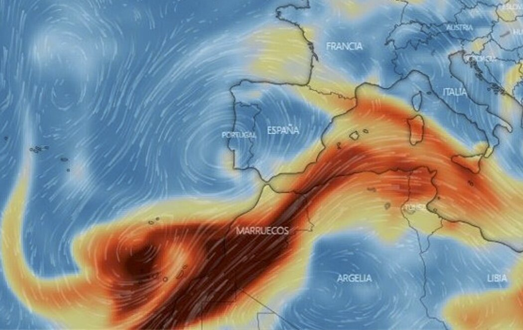 La nube de dióxido de azufre ya cubre Ibiza, Formentera y la costa de Murcia