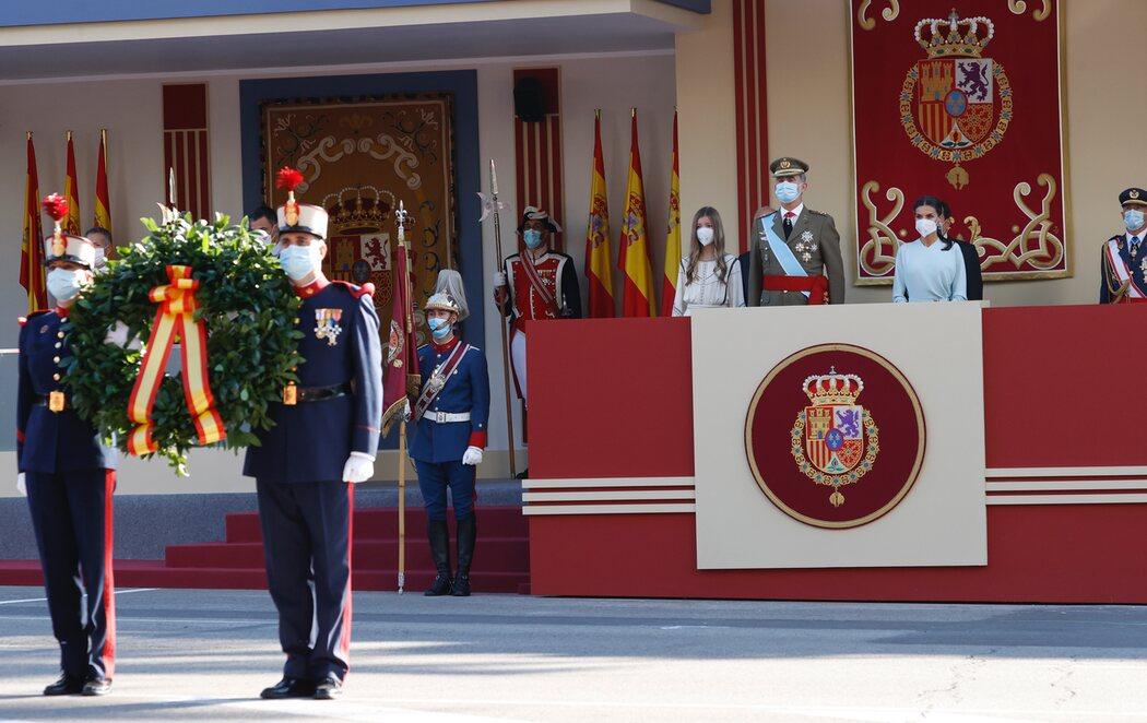 Vuelve el desfile del Día de la Hispanidad con la ausencia de la princesa Leonor