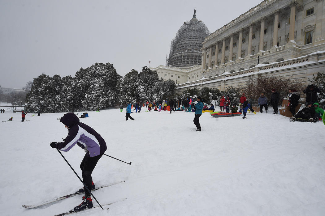 El Capitolio de los Estados Unidos, una pista de esquí