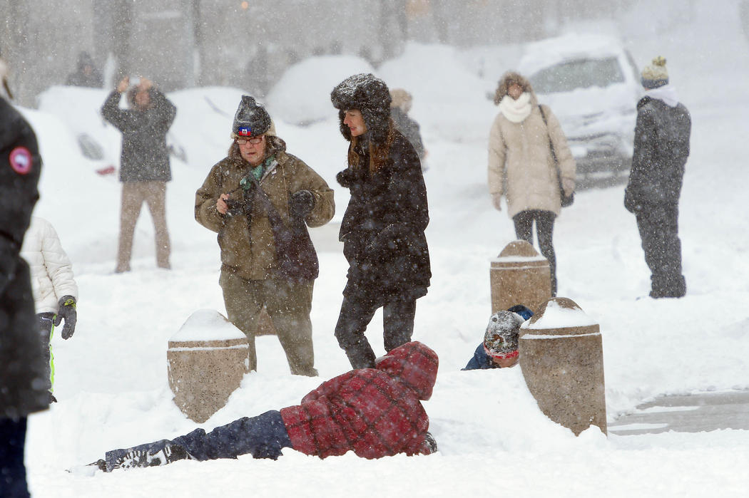 Los famosos también disfrutan de la nieve en Nueva York