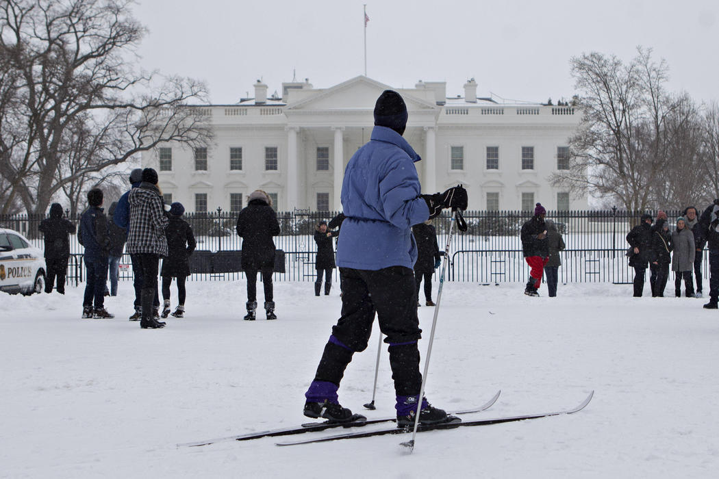 Esquiando frente a la Casa Blanca