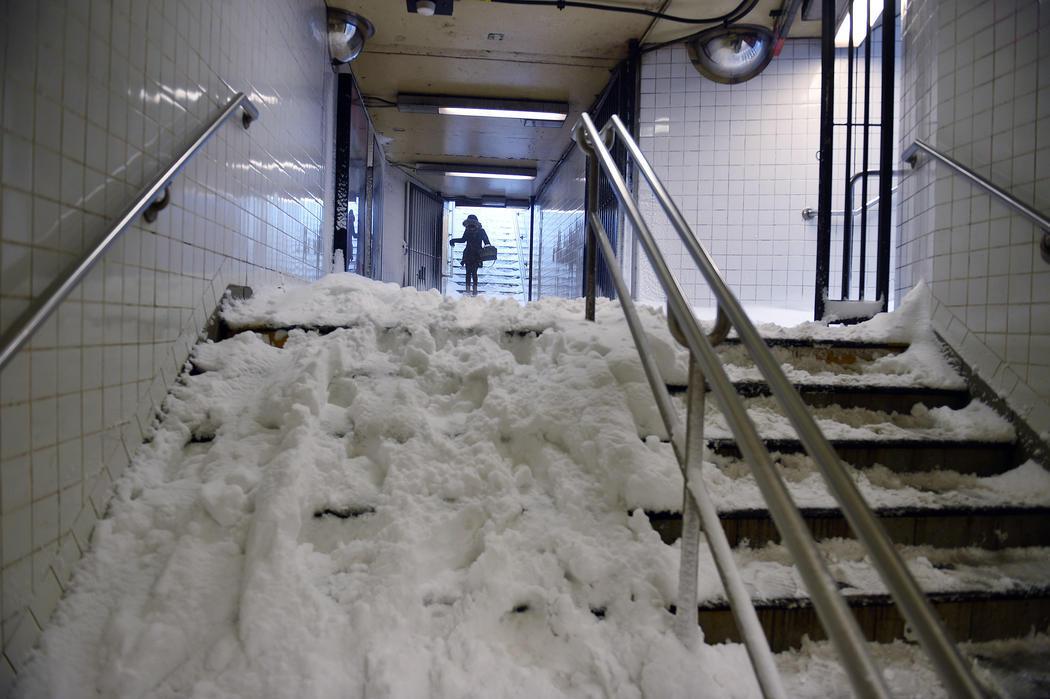 La nieve llega al metro de Nueva York