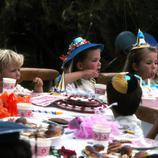 Felipe, Cristina y Elena de cumpleaños