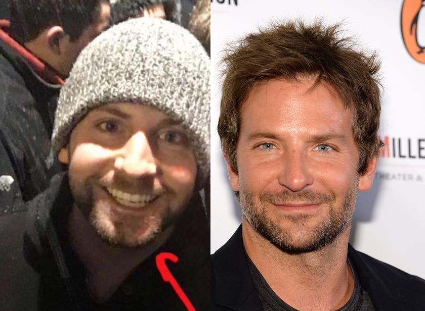 Bradley Cooper y su doble