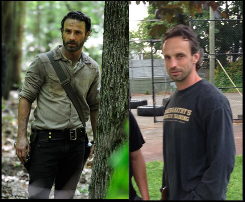 Andrew Lincoln y su doble