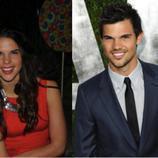 Taylor Lautner y su doble... mujer