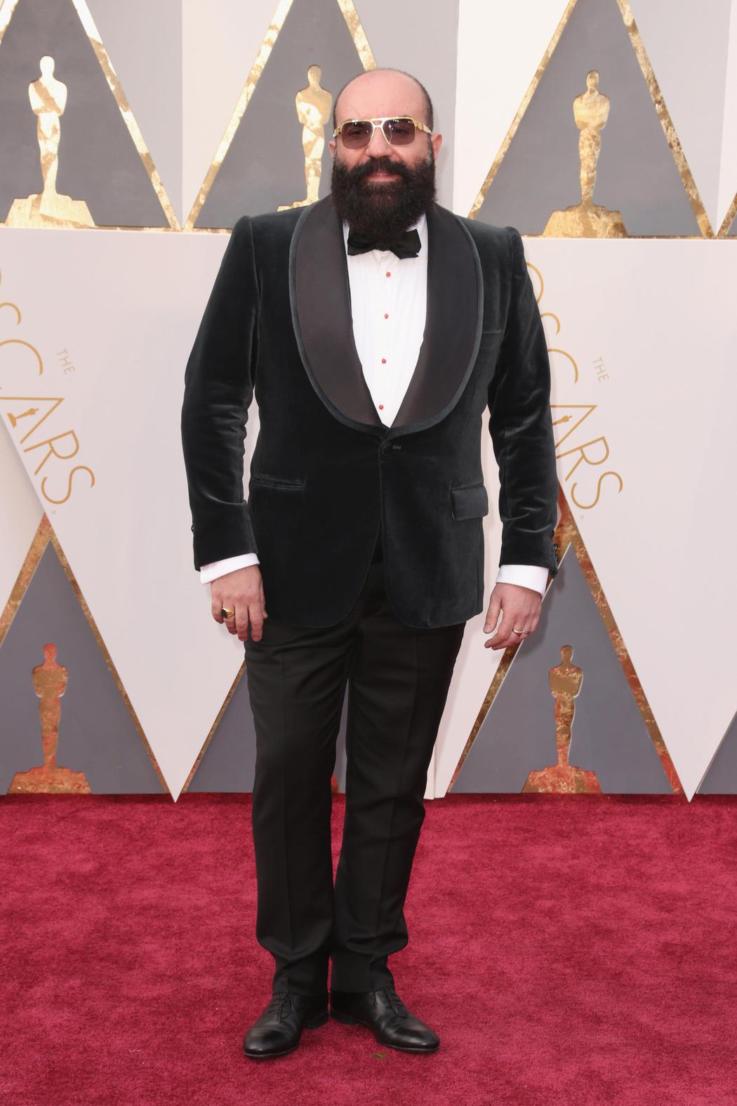 Paco Delgado en la alfombra roja de los Oscar 2016
