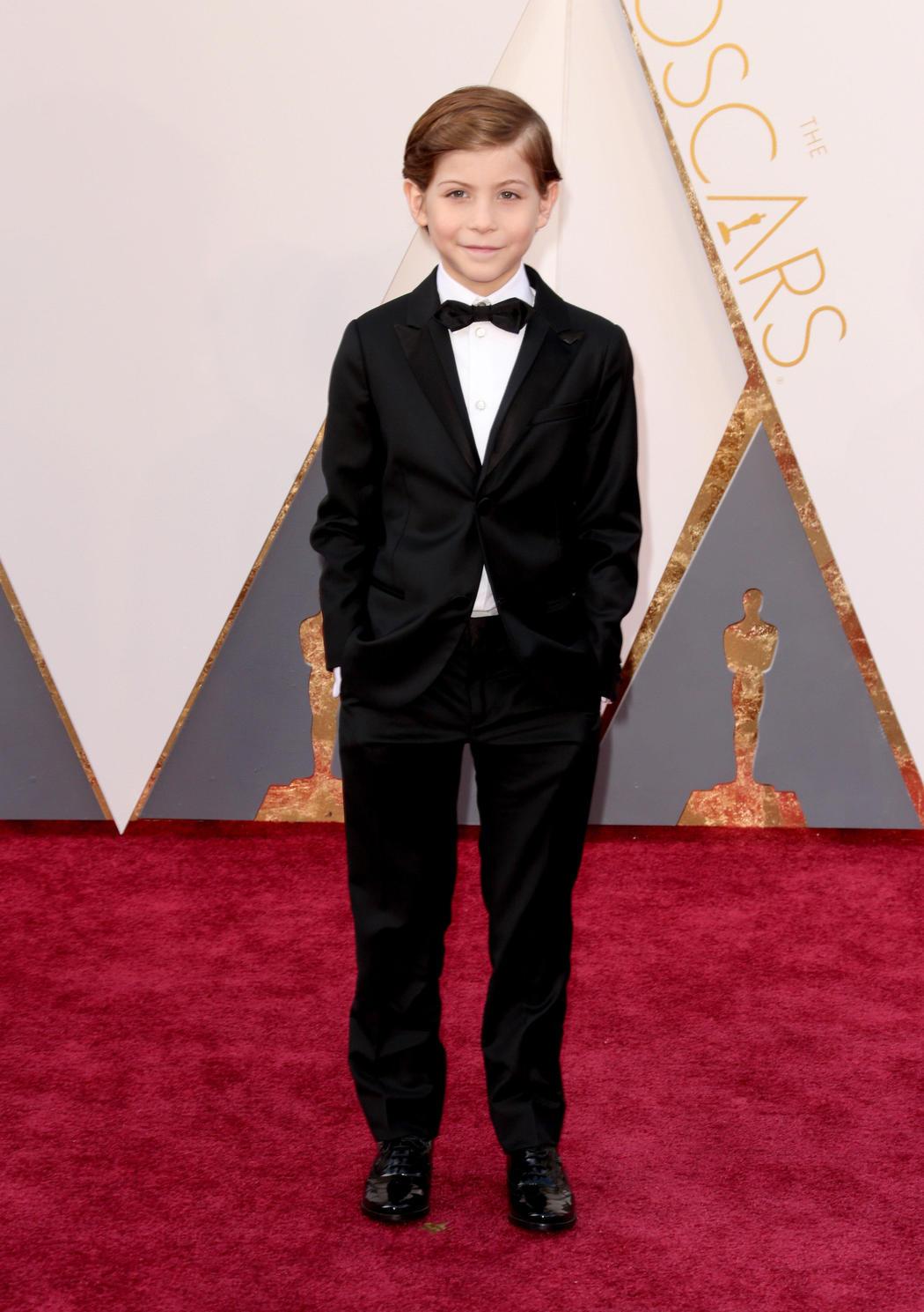 Jacob Tremlay en la alfombra roja de los Oscar 2016