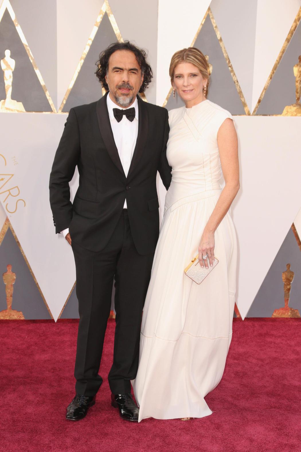 Alejandro González Iñárritu y su mujer en los Oscar 2016