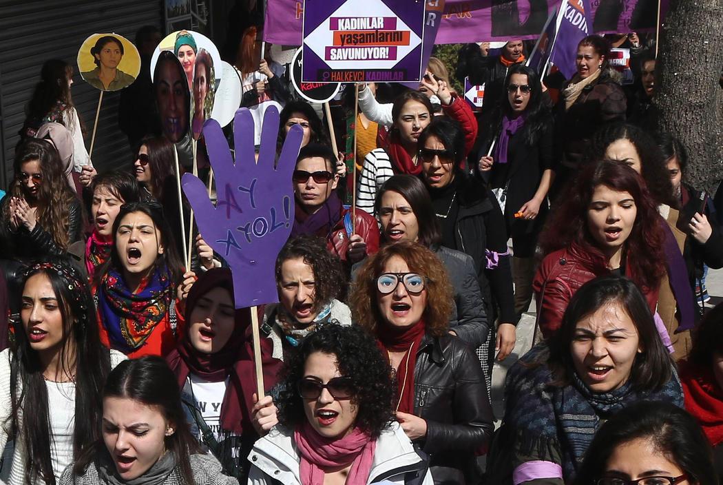Manifestación en Ankara (Turquía)