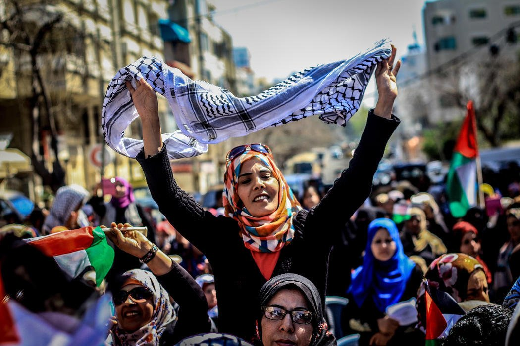 Mujeres defienden sus derechos en Gaza (Palestina)