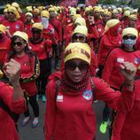 Concentración en Jakarta (Indonesia)