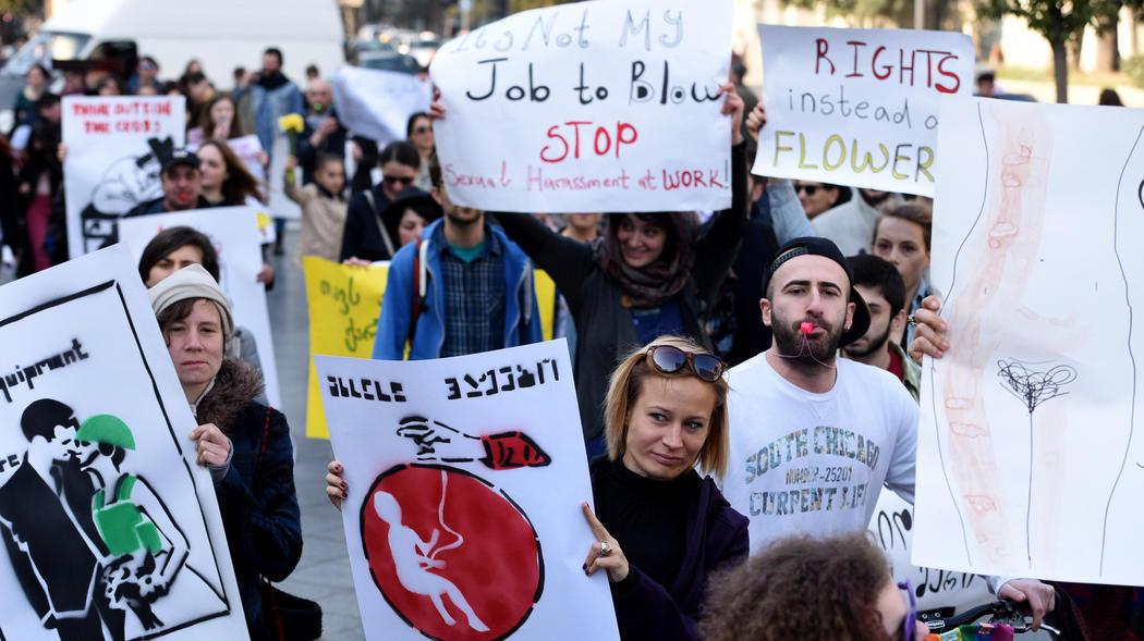 Manifestantes en Tiflis (Georgia)