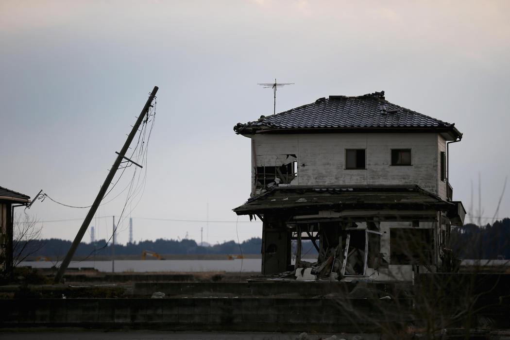 Una vivienda tradicional japonesa aguanta en el epicentro de la radiación en Fukushima