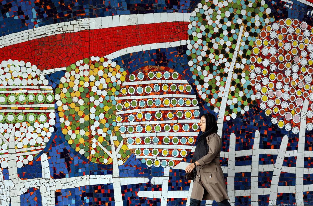 Las fachadas de Irán se llenan de color