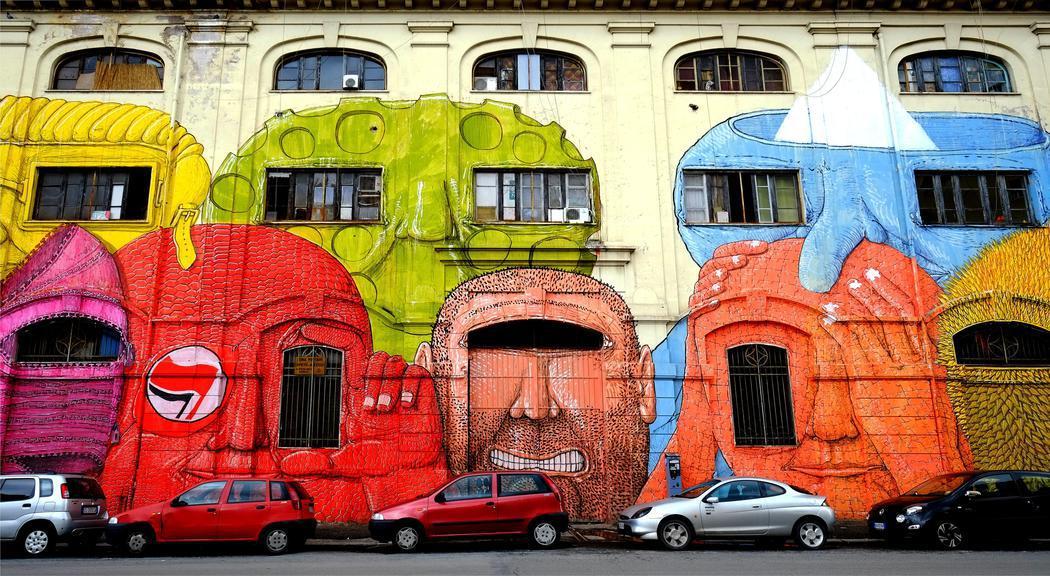 Arte moderno entre las ruinas de Roma