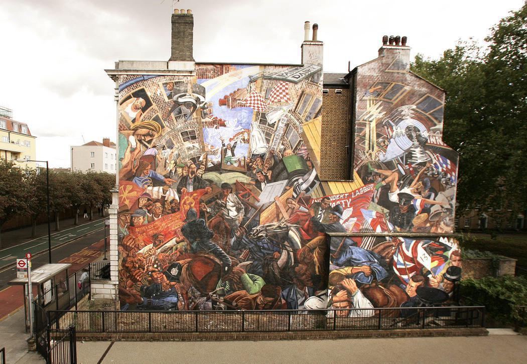 Una fachada que celebra una batalla en el centro de Londres