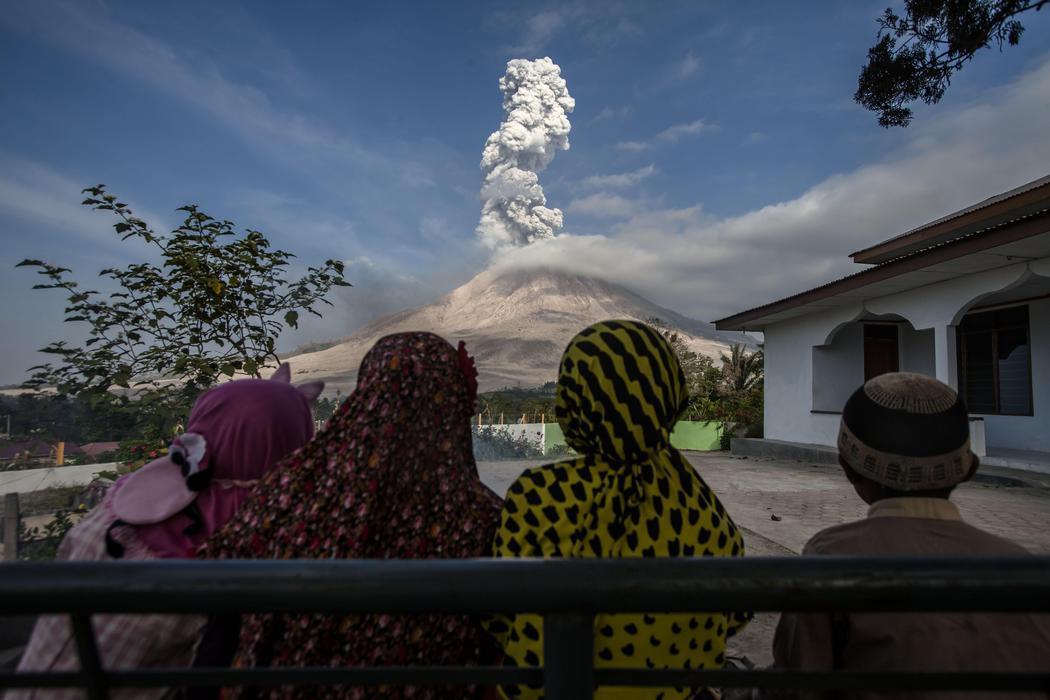 Un volcán con mucha actividad