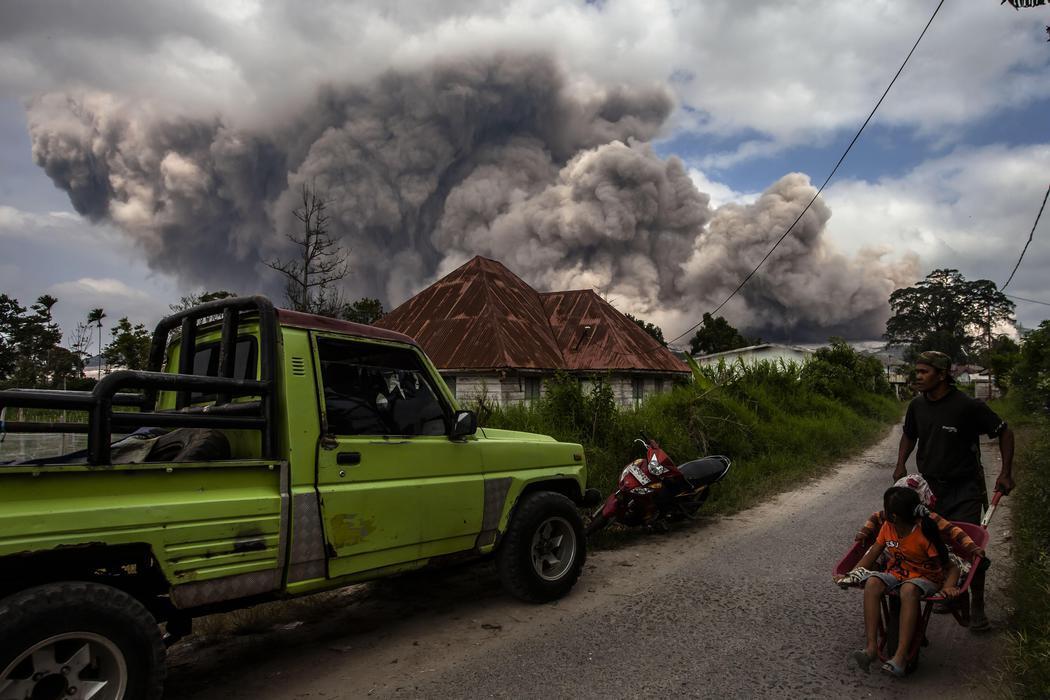 La erupción alcanza los pueblos de la zona