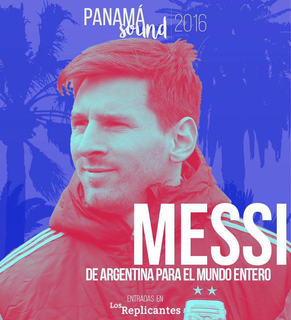 Messi se suma al cartel de la primera edición de Panamá Sound