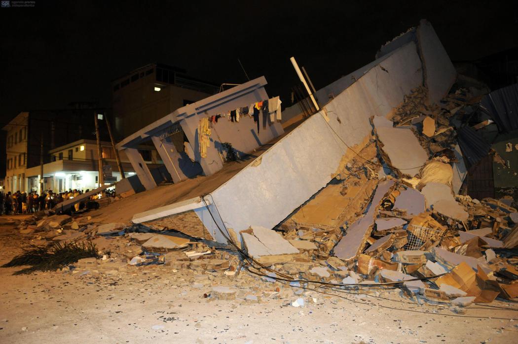 Casa destruida en Guayaquil